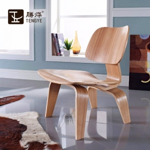 TENGYE Furniture Eames Wood Chair LCW DCW Plywood Veneer Mould Chair OEM China Manufacturer