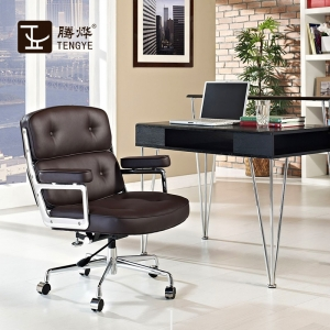 Tengyi Furniture Lobby Black Office Chair Produttore cinese