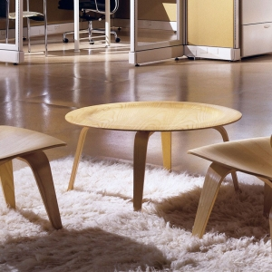 TENGYE furniture Eames famous molded walnut veneer plywood coffee table China factory wholesale