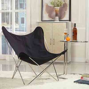 TENGYE furniture butterfly chair black frame factory wholesale