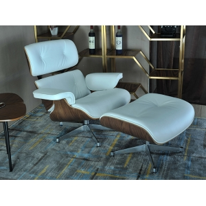 Tengye Furniture Eames Lounger Walnut Board + White Peel China Factory Supply