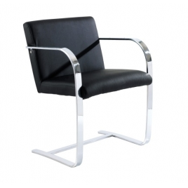 China TENGYE Furniture Brno Chair Black Leather China OEM Designer Chair Manufacturer factory