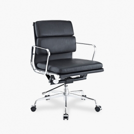China TENGYE Furniture Eames Low Back Office Chair Black OEM China Factory Wholesale factory