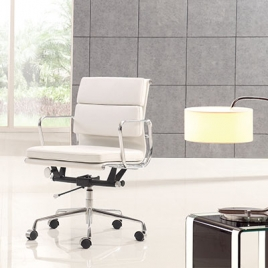 China TENGYE Furniture Eames Low Back Office Chair Black OEM China Factory Wholesale company