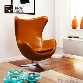 China TENGYE Furniture Jacobson Style Oven Chair Wool Hair Black and White China Factory Wholesale factory