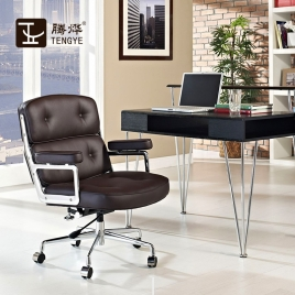 China Tengyi Furniture Lobby Black Bureaustoel Chinese fabrikant fabriek