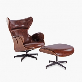 China TENGYE Furniture Ottoman Modern Lounge Chair Leather Lounge Chair oem China Manufacturer factory