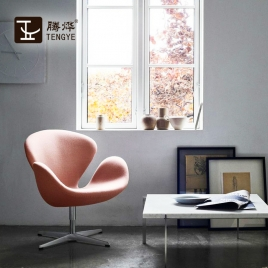 Chine Tengyi Furniture Swan Chair Cuir Chine Fauteuil Lounge Fabricant usine