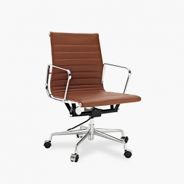 China TENGYE furniture Eames low back office chair brown China oem manufacturers company