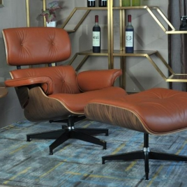 China Tengye Eames Lounger Walnut + Orange Peel China Factory Supply factory