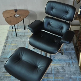 China Tengye Eames chair gray + black leather China factory supply factory