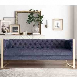 China Tengyi Light Luxus Edelstahl Stoff Hotelsofa-Fabrik