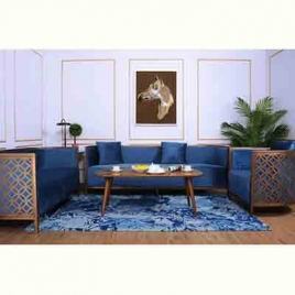 China Tengye light luxury rose gold stainless steel living room sofa factory supply company