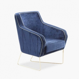 China Tengyi light luxury casual velvet single chair China factory supply company