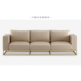 China Tengye light luxury stainless steel leather art sofa China factory supply factory